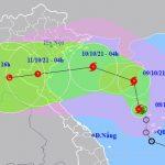 Dự báo đường đi của cơn bão số 7 trên Biển Đông
